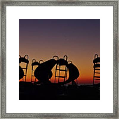 Shapes In The Dawn Framed Print by Jeremy Hayden