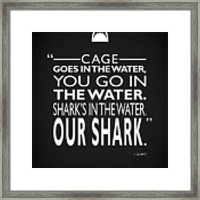 Sharks In The Water Framed Print