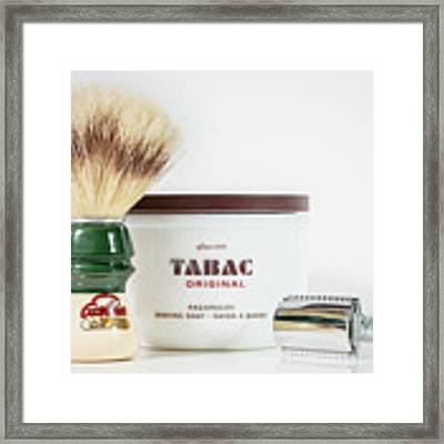 Shaving Set Framed Print by Gary Gillette