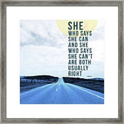 She Who Can- Art By Linda Woods Framed Print by Linda Woods