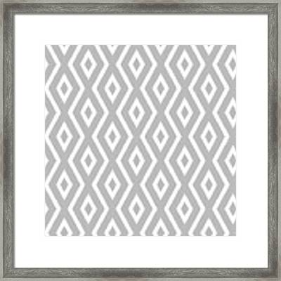Silver Pattern Framed Print by Christina Rollo