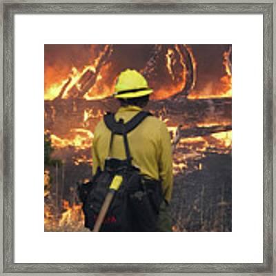 Legion Lake Fire Framed Print by Bill Gabbert