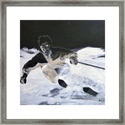 Sking Framed Print by Richard Le Page