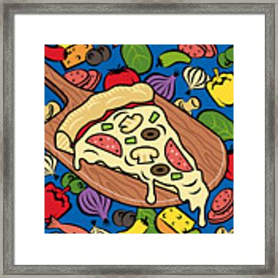 Slice Of Pie Framed Print by Ron Magnes