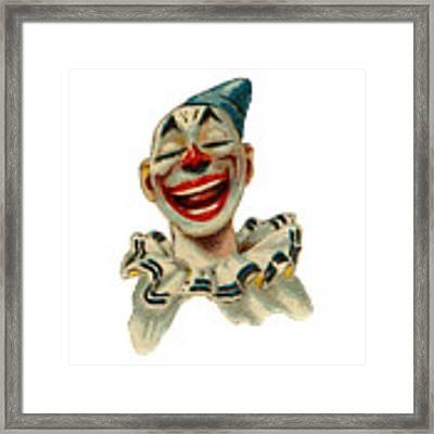 Smiley Framed Print by ReInVintaged