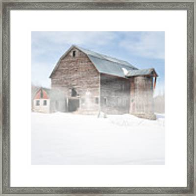 Snowy Winter Barn Framed Print by Gary Heller