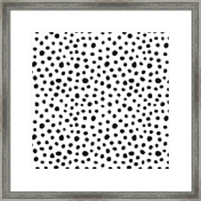 Spots Framed Print by Rachel Follett