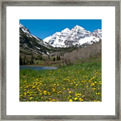 Spring At The Maroon Bells Framed Print by Cascade Colors