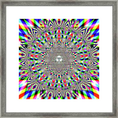 Sri Yantra Rgb Framed Print by Robert Thalmeier