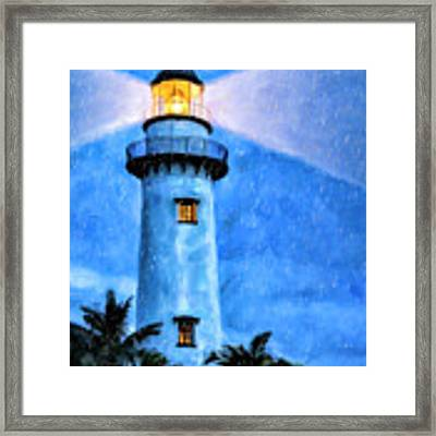 Lights On For You At St. Simons Framed Print by Mark Tisdale