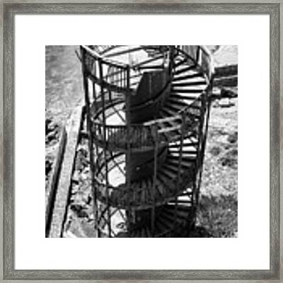 Stairs To Nowhere In Pismo Beach Framed Print by Priya Ghose