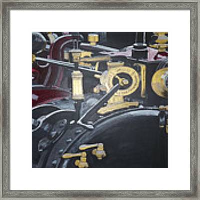 Steam Tractor Framed Print by Richard Le Page
