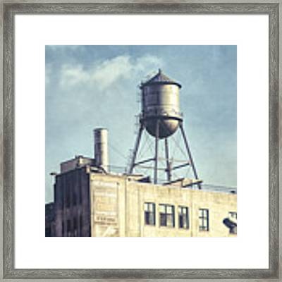 Steel Water Tower, Brooklyn New York Framed Print by Gary Heller