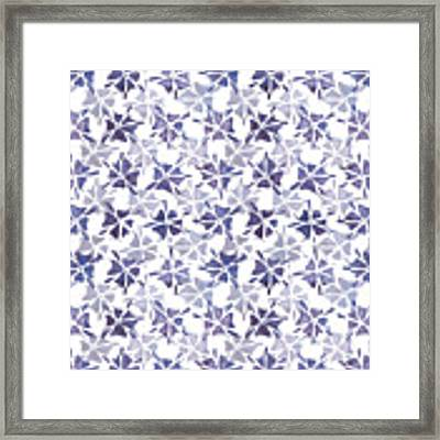 Stencilled Floral Framed Print by Jocelyn Friis
