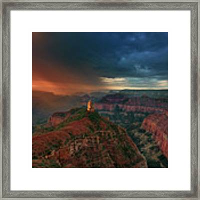 Storm Clouds North Rim Grand Canyon Arizona Framed Print by Dave Welling