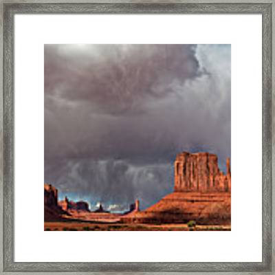 Storm Over Monument Valley Framed Print by Wesley Aston