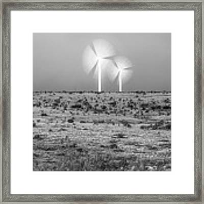 Storms And Halos Bw Framed Print by Scott Cordell