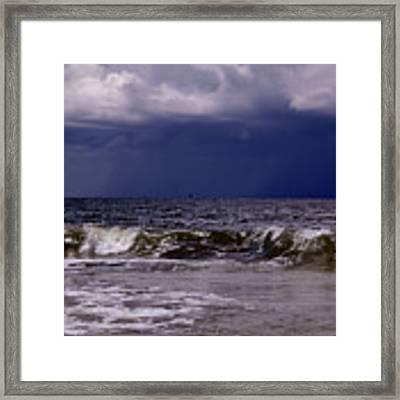 Stormy Beach Framed Print by Carolyn Marshall