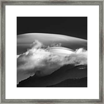 Lenticular Cloud Formation  Framed Print by Ken Barrett
