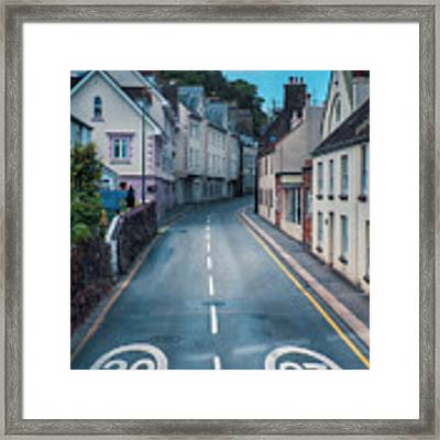 Street Of Summer Countryside Framed Print by Ariadna De Raadt