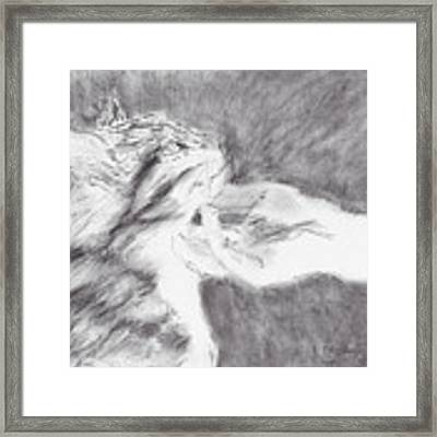 Study For Sweet Spot Framed Print by Kathryn Riley Parker