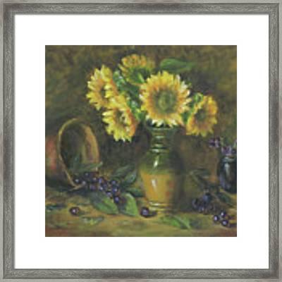 Sunflowers Framed Print by Katalin Luczay