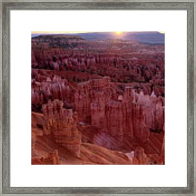 Sunrise Over The Hoodoos Bryce Canyon National Park Framed Print by Dave Welling