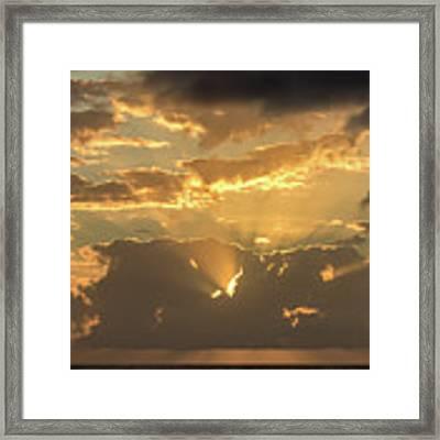 Sun's Rays Framed Print by David Buhler
