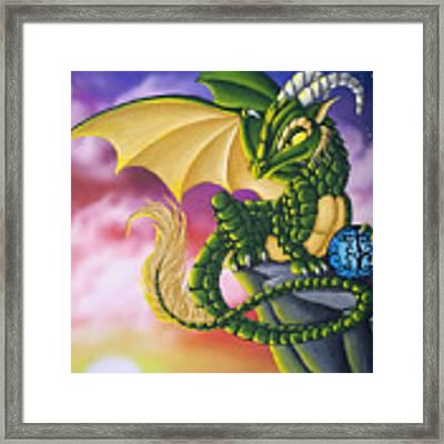 Sunset Dragon Framed Print by Mary Hoy