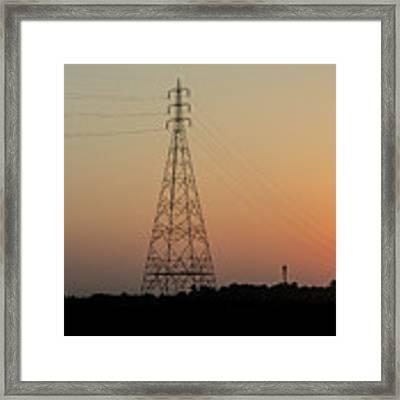 Sunset Pylons Framed Print by Chris Cousins