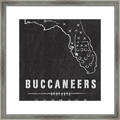 Tampa Bay Buccaneers Art - Nfl Football Wall Print Framed Print by Damon Gray