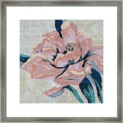 Textured Floral No.2 Framed Print by Writermore Arts
