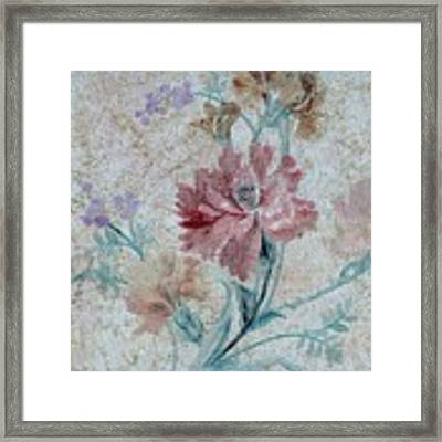 Textured Florals No.1 Framed Print by Writermore Arts