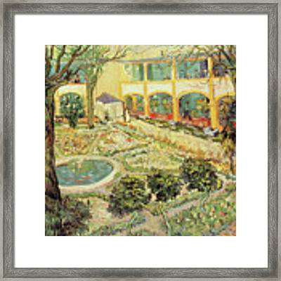 The Asylum Garden At Arles Framed Print