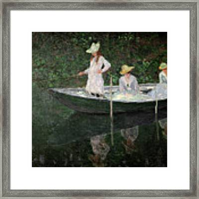 The Boat At Giverny Framed Print