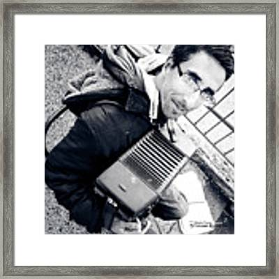 The Brave Accordion Player Framed Print by Stwayne Keubrick