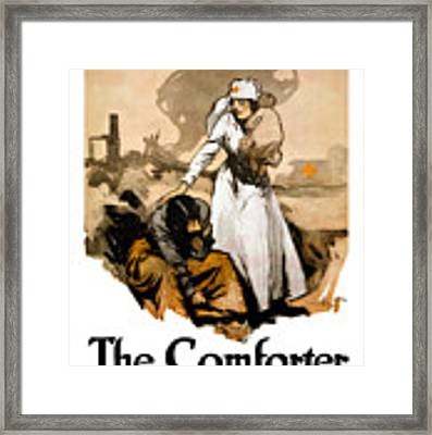 The Comforter - World War One Nurse Framed Print