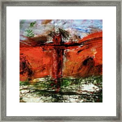 The Crucifixion #1 Framed Print by Michael Lucarelli