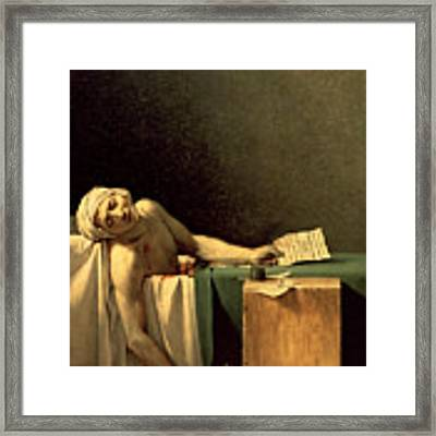 The Death Of Marat Framed Print by Jacques Louis David