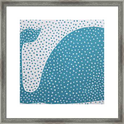 The Dotted Whale Framed Print by Deborah Boyd