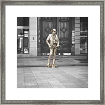 The Golden Cowboy Framed Print by Stwayne Keubrick