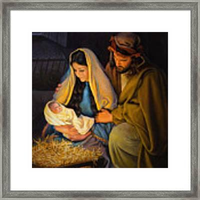 The Holy Family Framed Print by Greg Olsen