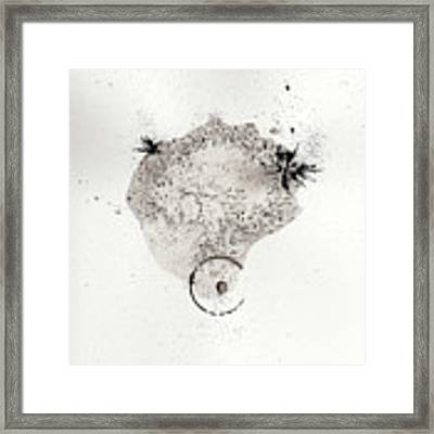 The Inexplicable Ignition Of Time Expanding Into Free Space Phase One Number 17 Framed Print