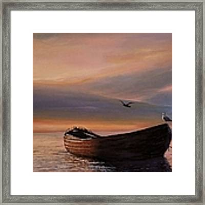 A Lone Boat Framed Print by Rosario Piazza