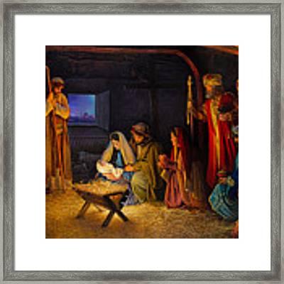 The Nativity Framed Print by Greg Olsen