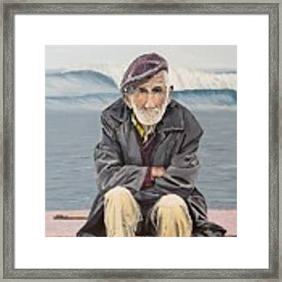The Old Waterman Framed Print by Kevin Daly