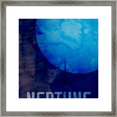The Planet Neptune Framed Print