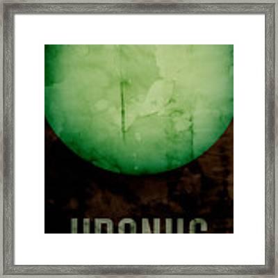 The Planet Uranus Framed Print by Michael Tompsett