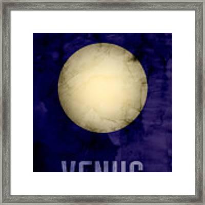The Planet Venus Framed Print