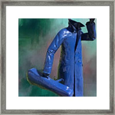 The Running Man Framed Print by Ericamaxine Price